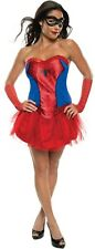 Ladies Sexy Spiderman Spidergirl Super Hero Tutu Fancy Dress Costume Outfit 6-18