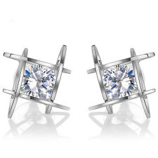 Chic Women Girls Crystal Rhinestone Square Ear Studs Earrings Jewelry Gift New