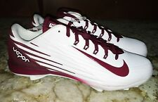 NEW Mens 12 13 NIKE Lunar Vapor Pro Lo White Cardinal Red Baseball Spikes Cleats