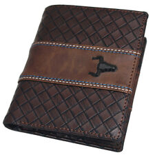 Men's Wallets Bi-fold Credit Card Purse Zipper Pocket ID Photo Window F7003B