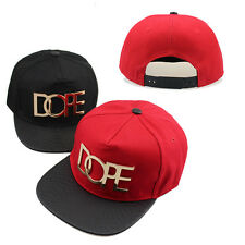 HOT! Unisex DOPE PUNK Brim Snapback Hats Hip-Hop Adjustable Bboy Baseball Cap