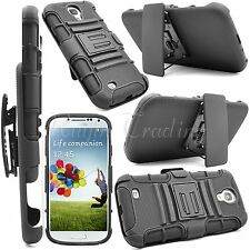 For Samsung Galaxy S4 IV i9500 Rugged Hard Case Stand Cover & Belt Clip Holster