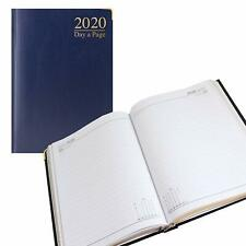 2017 Blue A5 Day to A Page/Page A Day Desk Diary- Padded Cover-Gilt Edge-3582