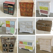 Small Drawer Cabinet Jewellery Box Wooden Storage Boxes Shabby Chic Distressed