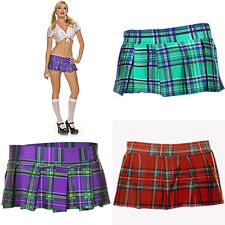 Sexy Plaid Mini Skirt S/M or M/L Geen, Purple or Red Plaid   ML25074