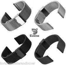 TAURUS® BRAND MILANESE MESH SS DIVER'S WATCH STRAP BAND BRACELET ADJUSTABLE