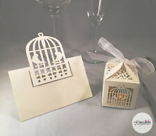 10x Luxury Wedding Favour Boxes & Placecards Bomboniere Name Table Decorations
