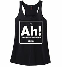 Ah The Element Of Surprise Funny Ladies Tank Top Science Periodic Table Z6
