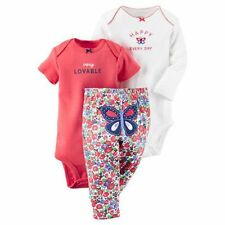 New Carter's 3 Piece Turn Around Butterfly Bodysuits Set 24m 18m 12m 9m 6m 3m NB