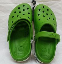 New! Men & Wom Unisex Crocs Duet Plus Water Shoe Clog in Green/oyster 12212 C30