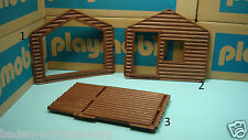 Playmobil 3826 adventure cabin series brown wooden wall diorama toy 181