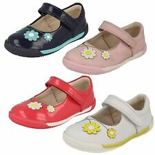 Girls Clarks First Shoes With Floral Detail Label Softly Jam