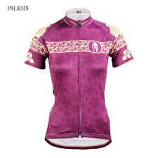 Women Team Cycling Jersey Bicycle Bike Shirt Outdoor Sports Short Sleeve Peony