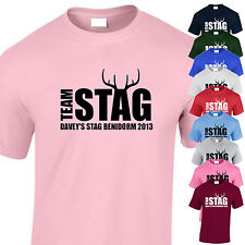TEAM STAG Personalised Stag Night T-Shirts Add Groom Name, Destination & Year