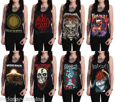 Rock Band Unisex Graphic Tee Tank Top Singlet Vest T-Shirt Tour Size S M L XL