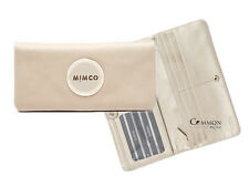 Authentic Mimco Vanilla Mim Classic Soft Leather 13 Card-Slot Wallet RRP $149
