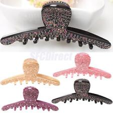 Charm Full Pave Crystal Rhinestone Large Acrylic Hair Claw Clip for Women Girl