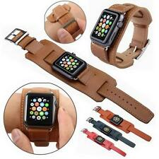 Apple Watch 38mm/42mm Genuine Leather Watch Band Strap Replacement Watchband XD