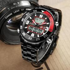 NAVIFORCE Men Analog Digital Sports Military Watch Steel Alarm Stop Watch A6N7