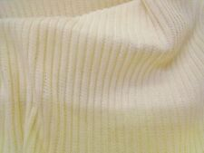 KNITTED ACRYLIC RIBBED  JERSEY - CREAM -DRESS FABRIC-FREE P&P