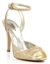 Charles David Women's Glaze Gold Glittered Sandal