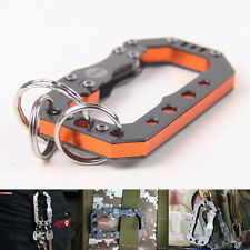 Stainless steel Quickdraw Buckle Carabiner hook keychain outdoor EDC Key holder