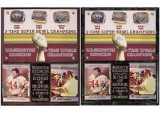 Washington Redskins 3-Time Super Bowl Champions Rings of Honor Photo Card Plaque