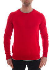CMP Knitted Pullover Pullover Sweater red Fine knit Crew neck Patches thin