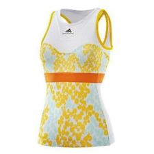 NEW Womens M ADIDAS Stella McCartney ASMCB Barricade Yellow Whit Tennis Tank Top