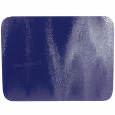 50cm x 40cm Glass Kitchen Worktop Saver Protector Trivet Blue Chopping Board