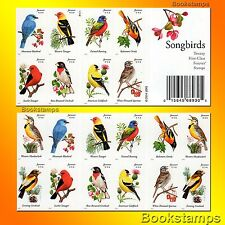 20 Song Birds Forever Postage Stamps Bluebird Lark Finch Oriole Sparrow Tanager