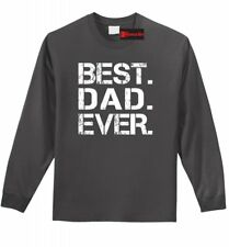 Best. Dad. Ever. Mens Long Sleeve T Shirt Cute Father's Day Gift Dad Shirt Z1