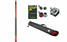 Viking A254 Jade Stain Pool Cue Stick 18-21 oz Case Playboy 8-Ball Shaper
