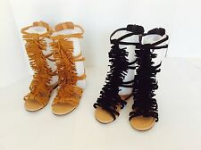 New Fashion Gladiator Sandals Fringe Shoes Kids girls size 9-4