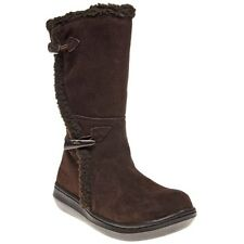 New Womens Rocket Dog Brown Slope Suede Boots Knee-High Zip