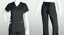 Grey's Anatomy 41101 & 4232 Scrub Set Top & Pants Black XS-2XL Brand New!
