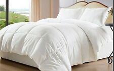 Overfilled & Oversized-Reversible Solid & Striped-Down Alternative Comforter