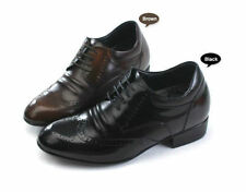 8cm Increasing Mens Genuine Leather Height Hidden Insole Elevator Shoes