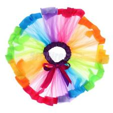 Fashion Mini Tutu Pettiskirt Ballet Skirt Dance Dress for Women Lady Kid Rainbow