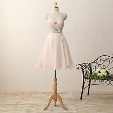 Sweetheart Bridesmaid Dresses Chiffon Formal Prom Party Gown Sweetheart E378