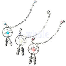 1X Dream Catcher Ear Piercing Cartilage Stud Earring Dangle Helix Tragus Cuff TW