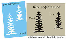 Tree STENCIL Rustic Mountain Lodge Pine Trees Outdoor Camp Cabin Art Sign Decor