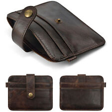 Leather Money Mens Clip Slim Wallet ID Credit Card Holder Case Purse Key Ring