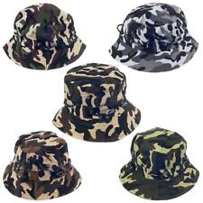 Mens Camouflage Army Outdoor Bucket Hat Fishing Outdoor Climbing Boonie Cap
