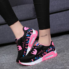 Womens Fashion Athletics Breathable Casual Running  Lace Up Sport Shoes SIZE 4-8
