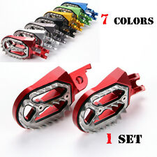 Motorcross wide fat foot pegs for Honda CR125/250 CFR150R CRF250R/X/L CRF450R/X
