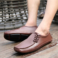 New Mens Casual Soft Leather Loafers Slip On Moccasin Driving Shoes Plus Size