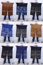 UNISEX THAI FISHERMAN PANTS TROUSER COTTON RAYON FABRIC MASSAGE YOGA MEDITATION