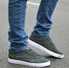 New Mens Boy's Casual Canvas Denim Sneakers Lace Up Sports Running Flats Shoes