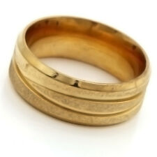 fashion jewelry Gold plated Stainless Steel Scrub Lady Rings Size 7 8 9 10 11